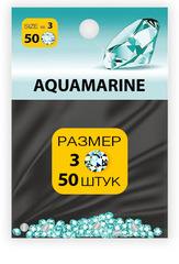 MILV, стразы акриловые № 3 SS3 Aquamarine 50 шт (1 мм)