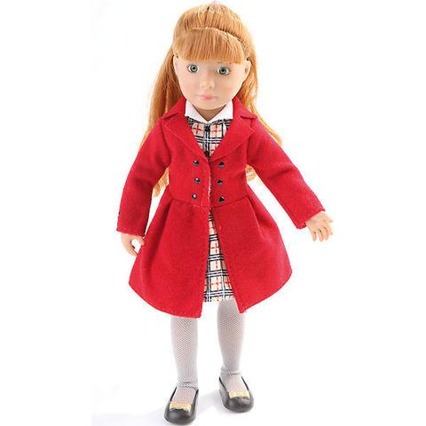 Кукла Хлоя в красном пальто, Kruselings (Крузелингс), 23 см