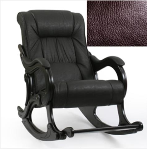 Кресло-качалка ЛИДЕР Модель 77 с подножкой (Or.Perlam-120/Венге) коричневый