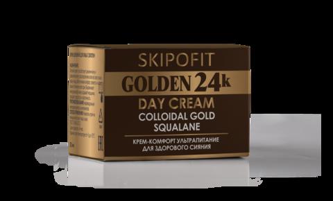 Крем дневной для лица с золотом SKIPOFIT GOLDEN 24k 30 мл НИИ Натуротерапии