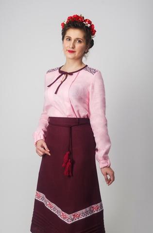 Блуза Самоцветы Сапфир с юбкой клин
