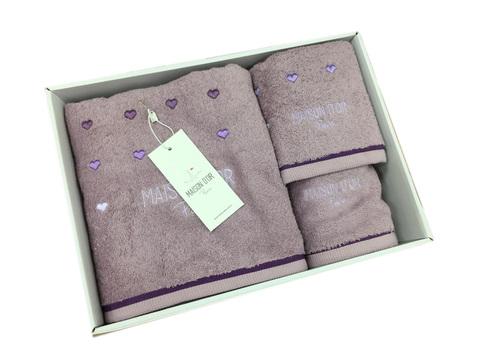 Набор полотенец  CANDY LOVE - КЕНДИ ЛАВ 3пр 30х50 50х90 и 70х140 Maison Dor (Турция)