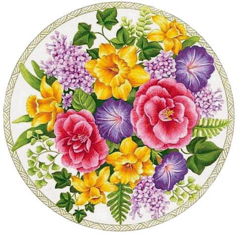 Печать на вафельной бумаге, Цветы 10