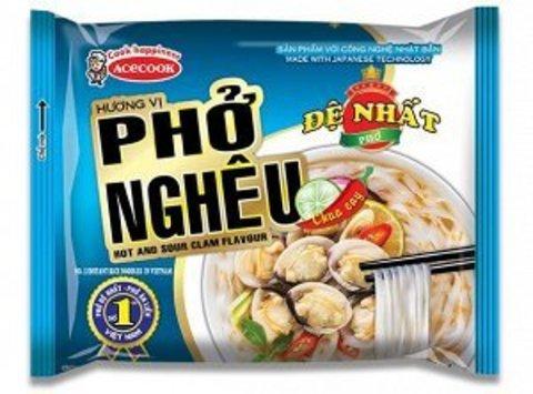 Вьетнамская рисовая лапша-суп Фо Ngheu, De Nhat (Acecook), вкус мидий, 65 гр.