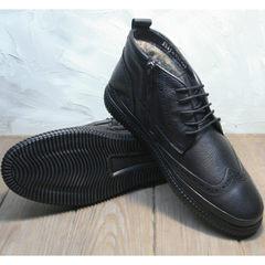 Зимние ботинки из натуральной кожи мужские Rifellini Rovigo C8208 Black