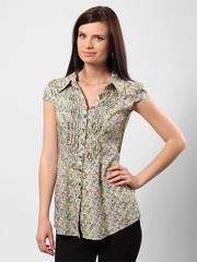 4506 рубашка женская, зеленая
