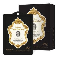 Frudia Royal De Caviar Gold Mask - Маска тканевая лифтинг с икрой, пептидами и скваленом