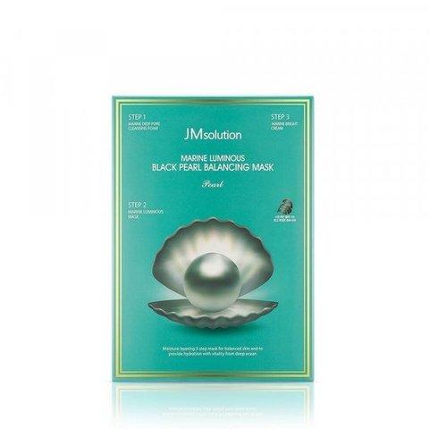 JMsolution Marine Трёхшаговый набор для сияния кожи  Luminous Black Pearl Balancing Mask