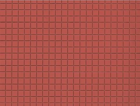 Красно-коричневая плитка - 2 шт, (H0/ТТ)