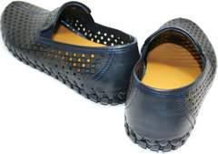 Летнии туфли мужские Luciano Bellini 107607 Black.