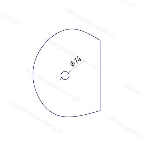 Соединитель труба-стекло ST-303 BLK чёрный матовый