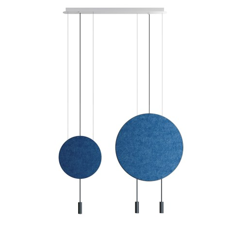 Подвесной светильник копия REVOLTA by Estiluz (2 плафона, синий)