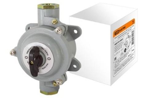 Пакетный выключатель ПВ2-16 2П 16А 220В, силуминовый корпус, IP56 TDM
