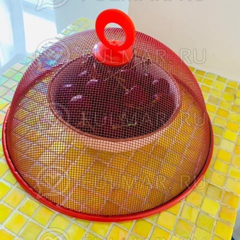 Крышка-сетка для продуктов d=24 см Красная