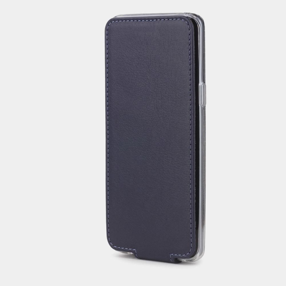 Чехол для Samsung Galaxy S9 Plus из натуральной кожи теленка, цвета индиго