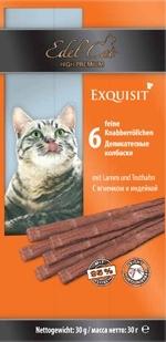Лакомство для кошек Edel Cat Колбаски, ягненок, индейка купить с доставкой в интернет-магазине зоогастроном.ру