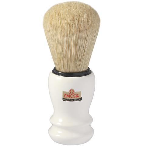 Помазок для бритья Omega натуральный кабан белый 10108