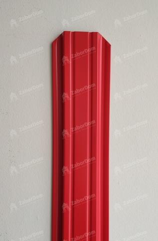 Евроштакетник металлический  85 мм RAL 3020 П-образный 0.5 мм