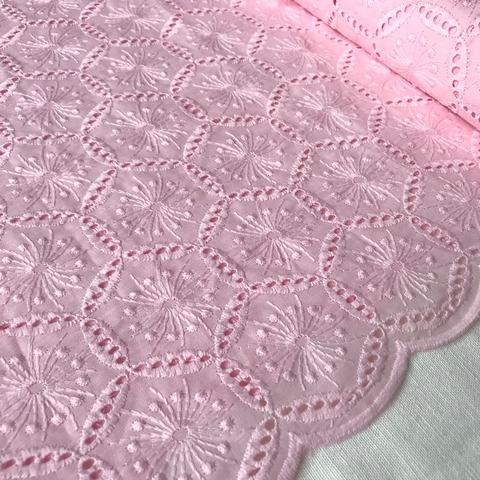 Ткань шитье светло-розовое 3304