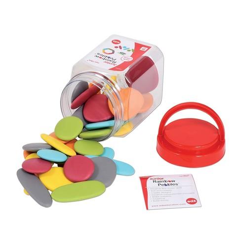 Игровой набор Junior Радужные камешки, природные цвета, контейнер, Edx education, арт. 13229J
