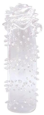 Закрытая прозрачная насадка в форме розы - 13 см.
