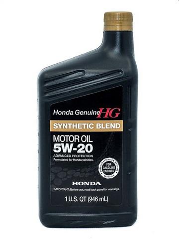 HONDA Synthetic Blend 5W20 SN Масло моторное полусинт. SN, GF-5 (пластик/США)