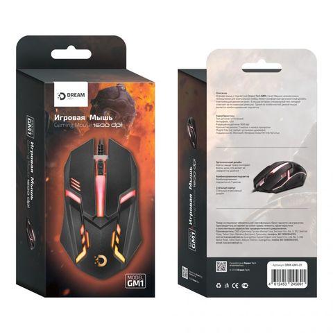 Игровая мышь DREAM GM1-01 (2400 dpi, 7 цветов подсветки) черный
