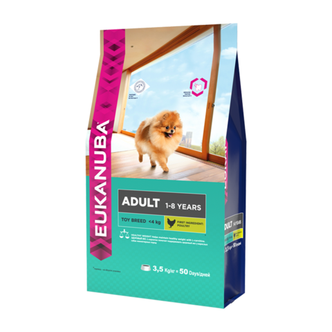 Eukanuba Adult Toy Breed Сухой корм для взрослых собак миниатюрных пород