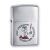 Зажигалка Zippo Мальчик с покрытием Brushed Chrome, латунь/сталь, серебристая, матовая, 36x12x56