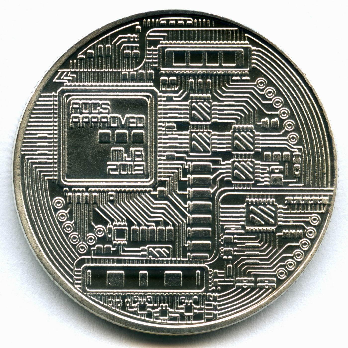 Серебряный Биткоин (сувенирная монета)