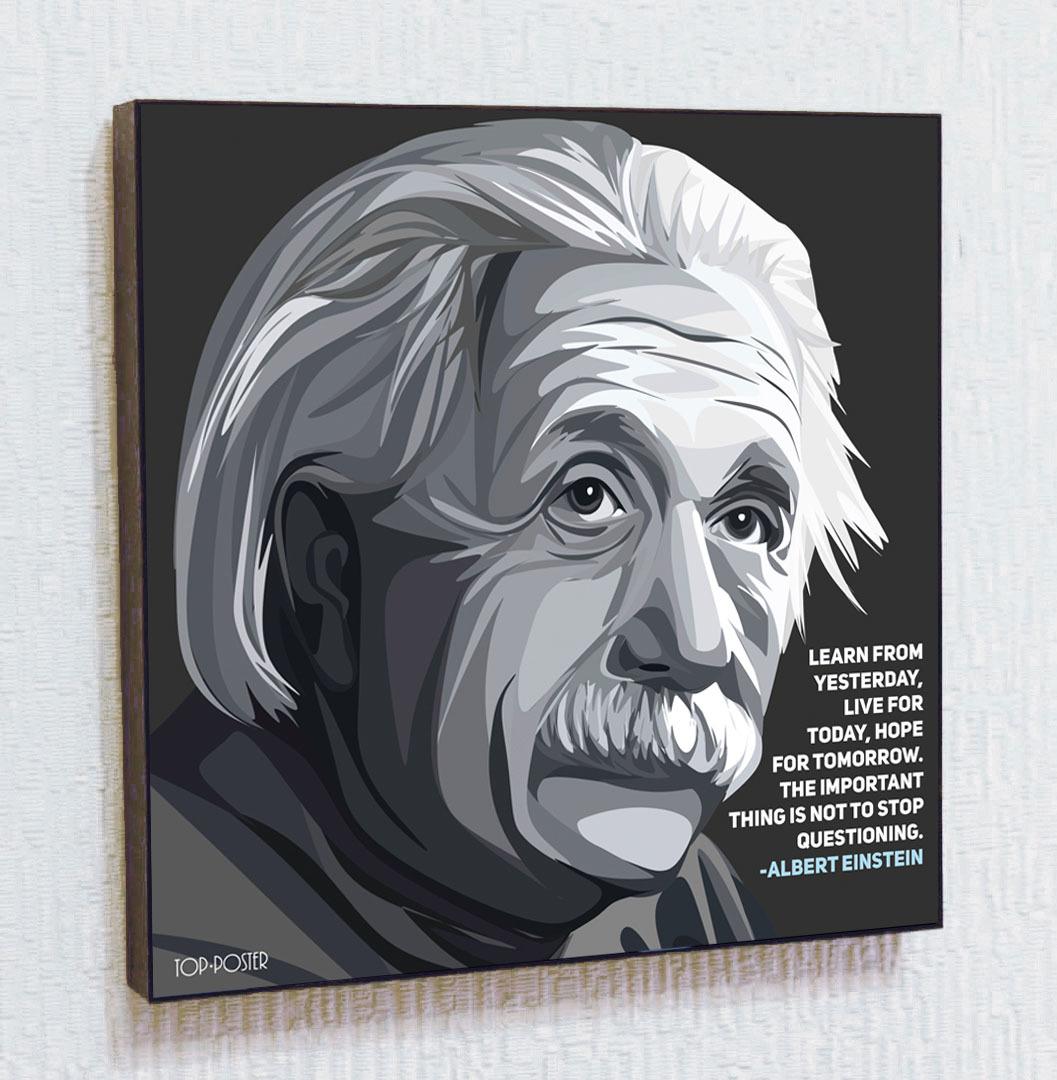 Картина ПОП-АРТ Альберт Эйнштейн портрет TOP POSTER