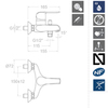 Смеситель для ванны с изливом и душевым комплектом YPSILON PLUS 6405T1 - фото №2