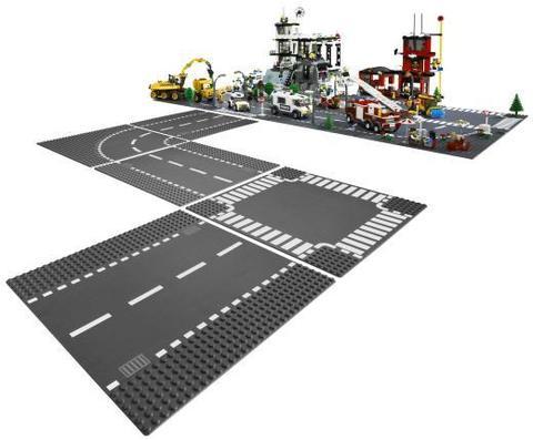 LEGO City: Дорога и перекрёсток 7280 — Straight and Crossroad Pieces — Лего Сити Город