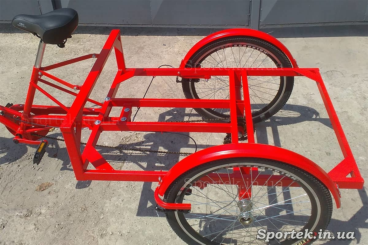 Вантажна платформа триколісного велосипеда 'Рекламний' для вуличної торгівлі та реклами