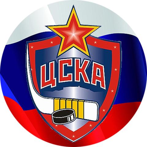"""Значок закатной """"ЦСКА (Москва)"""" хоккей (1)"""