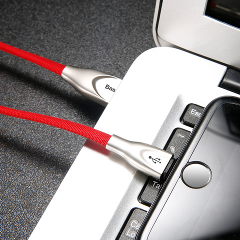 Кабель Baseus Zinc Fabric Cloth Weaving Cable USB For IP 2A 1M Red