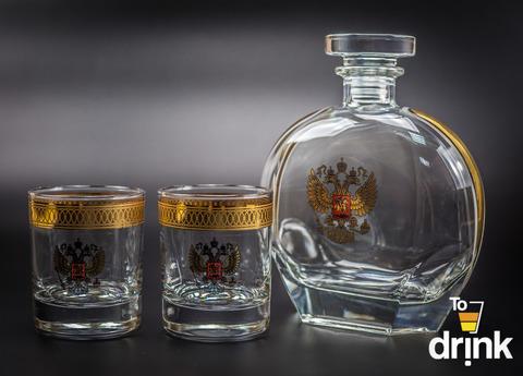 Подарочный  набор «Родина»: штоф 800 мл, 2  стакана 275 мл
