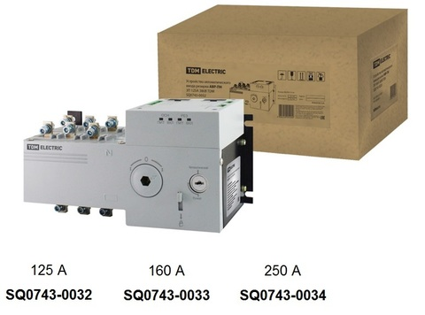 Устройство автоматического ввода резерва АВР-ПН 3П 250А 380В TDM