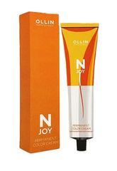 OLLIN N-JOY 4/13 – шатен пепельно-золотистый, перманентная крем-краска для волос 100мл