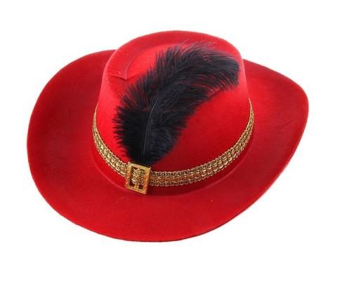 Карнавальная шляпа с пером