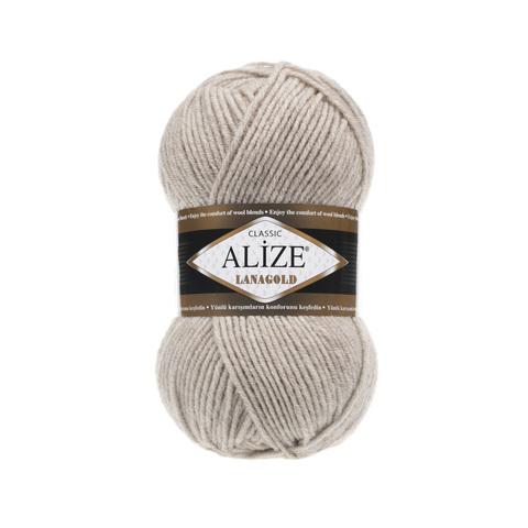 Пряжа Alize Lanagold 152 светлый беж