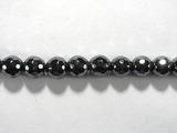 Бусина из гематита прессованного, фигурная, 6 мм (шар, граненая)