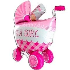 """Фигура """"3D коляска с девочкой"""""""