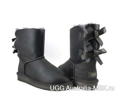 UGG Bailey Bow  Grey