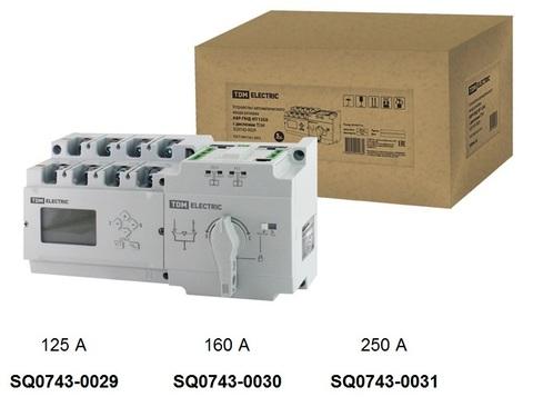 Устройство автоматического ввода резерва АВР-ПНД 4П 160А 380В с дисплеем ТDM