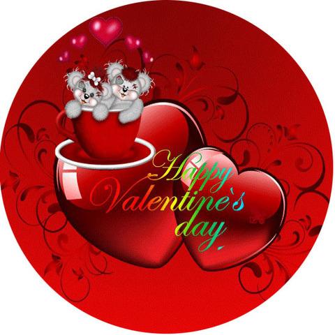 Печать на вафельной бумаге, День Влюбленных 45