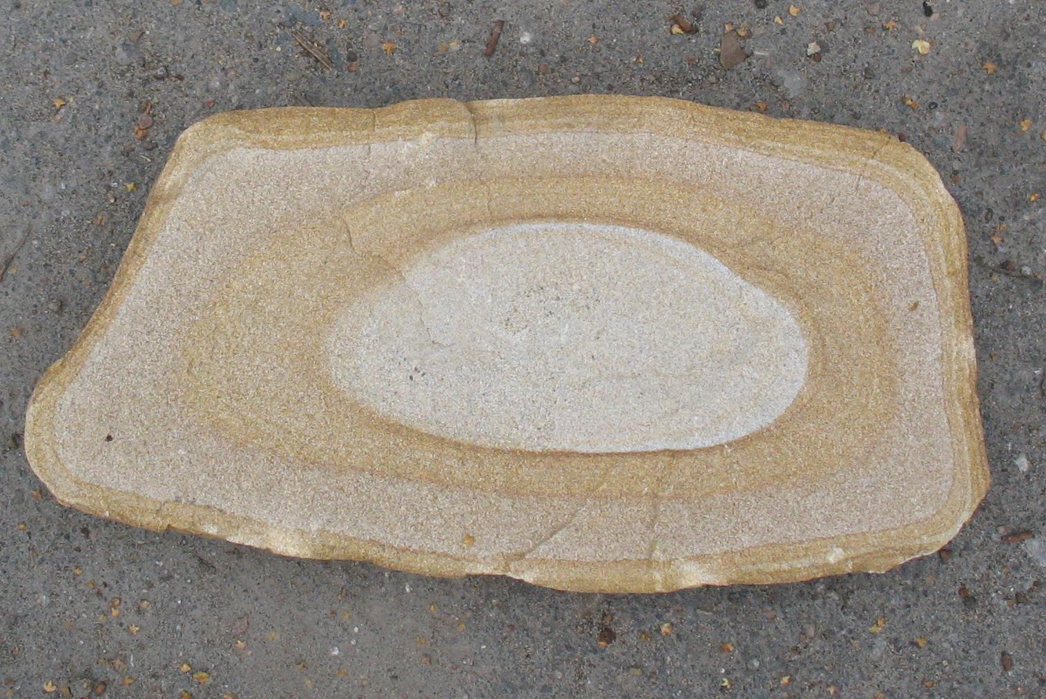 Образец камня Булыжник облицовочный Жёлтый