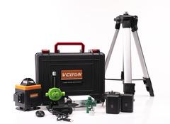 Лазерный уровень 360° VCHON VC-5202  16 зеленых лучей (верхний и нижний горизонт) + штатив 1,2 метра