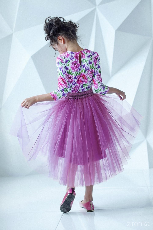 Комплект (блузка, юбка) для девочки 64-7006-6