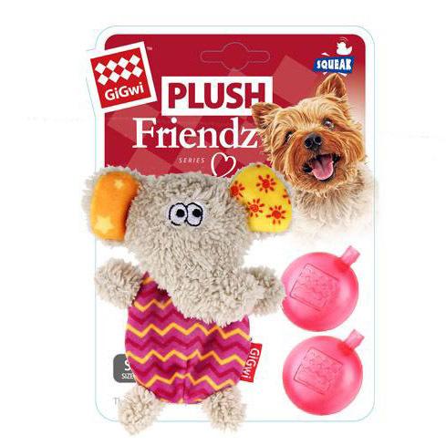 75302 Игрушка для собак Слоник с двумя пищалками